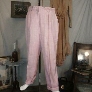 Vintage pink linen blend trousers!